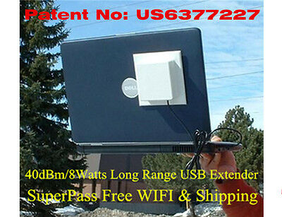 Mile 40dBm 2.4G USB Long Range Antenna Laptop In/ Outdoor For WIFI Router Mobile