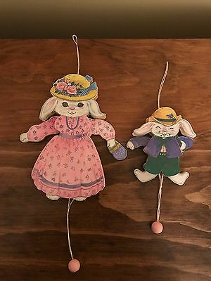 Easter Bunny Wooden Pull String