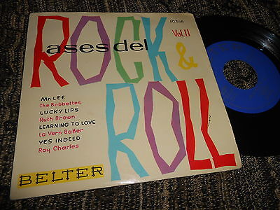 """THE BOBBETTES+RUTH BROWN+LA VERN BAKER+RAY CHARLES EP 45 7"""" 1960 SPAIN rare"""