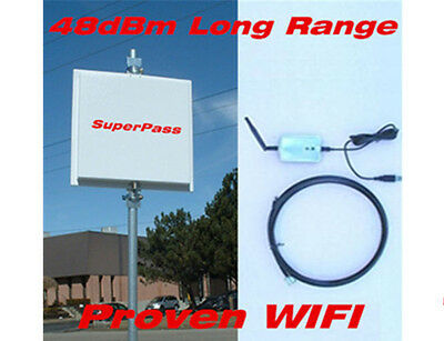 48dBm Long Range 2.4G USB Router Smart Antenna Free WIFI Mile Outdoor Repeater 2