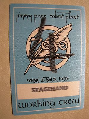 Jimmy Page Robert Plant  Tour Backstage Pass!! Unpeeled!!! RARE!! Led Zepplin