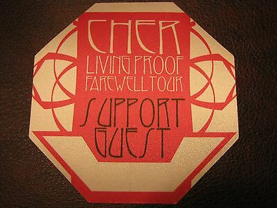 Cher Tour Backstage Pass!! Unpeeled!! RARE!