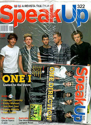 RARE ONE DIRECTION MAG WITH CD = Speak Up Magazine Brazil 1D INTERVIEW ON CD WOW