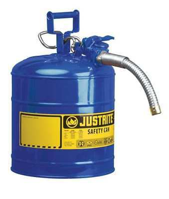 Type II Safety Can,12 In. H,Blue JUSTRITE 7225330