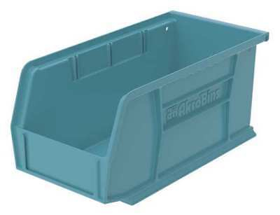 "Light Blue Hang and Stack Bin, 10-7/8""L x 5-1/2""W x 5""H AKRO-MILS 30230LTBLU"