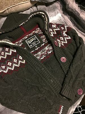 Women's Superdry Chunky Knit Cable Knit Cardigan Jacket XS