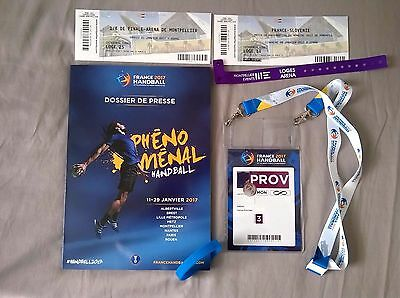 Handball Mondial 2017 Dossier Kit Press French & English + Bracelet