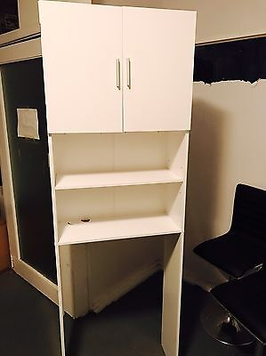 White Office Cabinet / Cupboard and Shelving Hutch