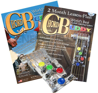 CHORD BUDDY Guitar Learning System Teaching Practrice Aid CHORDBUDDY Lessons