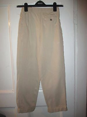 Boys Marks Spencer  vintage  beige cotton Trousers  Age 10 ~ Height 140cm