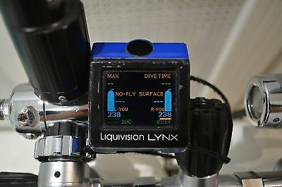 Liquivision Lynx SCUBA Diving Computer with 2 x T1 transmitters & 1x L1 location