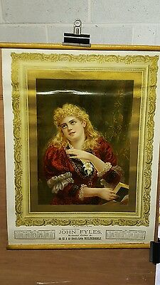 3 Antique Religious Calender Prints Early 1900's