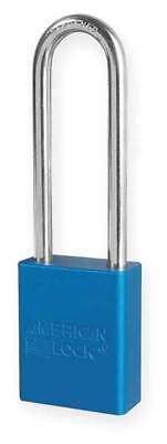 AMERICAN LOCK A1107BLU Lockout Padlock, KD, Blue, 1/4 In. Dia.