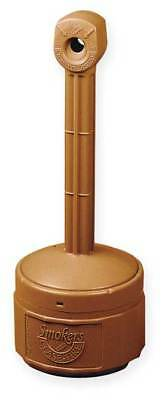JUSTRITE 26806T Smokers Cease-Fire Cigarette Receptacle, 1 gal., Terra Cotta