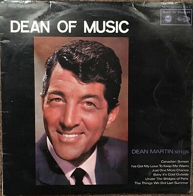 "Dean Martin ' Dean Of Music ' 1959 Vintage 12"" Vinyl Record LP"