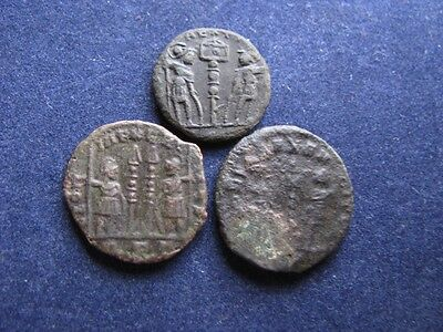3 Genuine Ancient Roman Coins,Unresearched,Identifiable Coins With Decent Detail