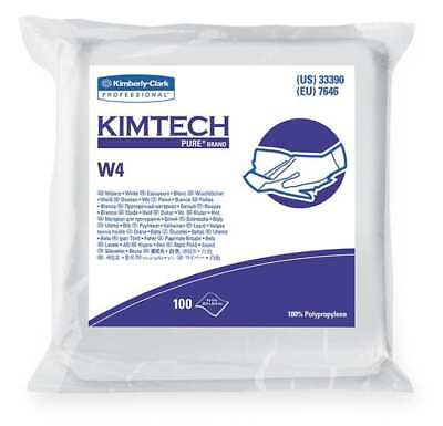 "Kimtech Clean Room Wipes, 12"" x 12"", 5 Pack, 100 Wipes/ Pack, 33330"