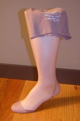 1 pr OUTSIZE full fashioned seamed nylon stockings 12  X 37 1/2  mill flaw