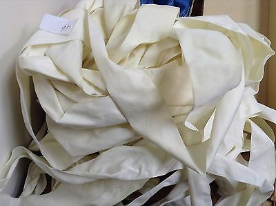"LOT 23 Yards off White 2 1/4"" Vintage FRENCH VELVET Ribbon Made in France"