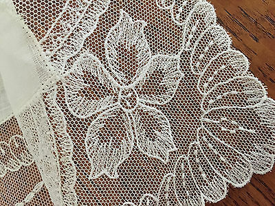 Antique LACE HANDKERCHIEF BRIDAL Exquisite Hand Made Wedding HANKY