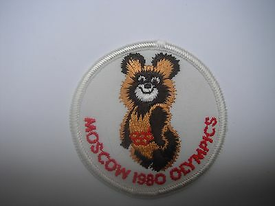 Moscow 1980 Olympics Vintage Retro Old School Patch NOS Not Remade! Free Ship!!