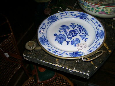 Antique  hot  water plate/keeps food warm,