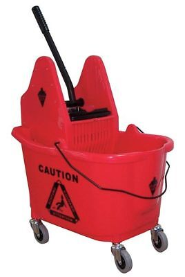 Mop Bucket and Wringer,8-3/4 gal.,Red TOUGH GUY 5CJK2