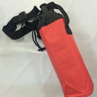Sport bag School Insulated Water Bottle Cover Carry bags RED 9 Dia X 25 Cm H
