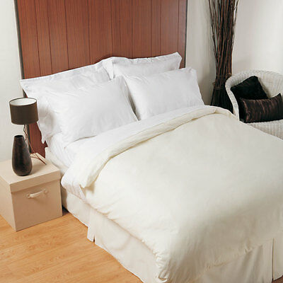200 Thread Count Flat Sheet in Polycotton Double Bed Size in White 229cm x 269cm