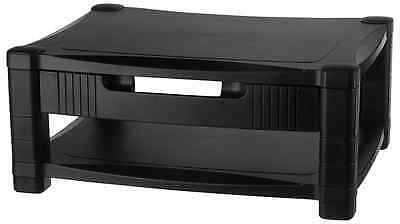 Kantek MS480 Two-Level Stand, Removable Drawer, 17 x 13 1/4 x 3 to 6 1/2-Inches