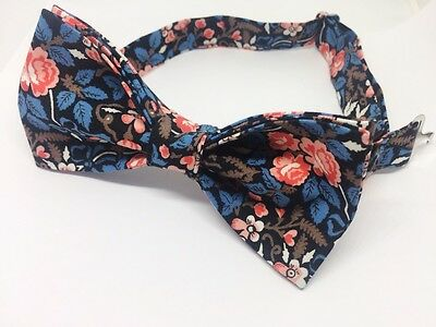 Winter Flowers Bow Tie & Pocket Square- Handmade Gifts For Him, Wedding Bow Tie,