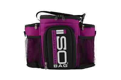 Isobag 3 Meal System - Reverse Color (Fuchsia/Black Accent)