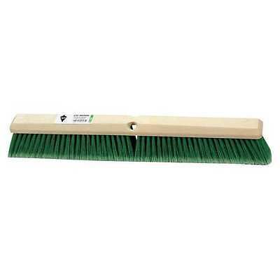 Tough Guy Green Flagged Synthetic Fine Sweeping Push Broom, 3H388