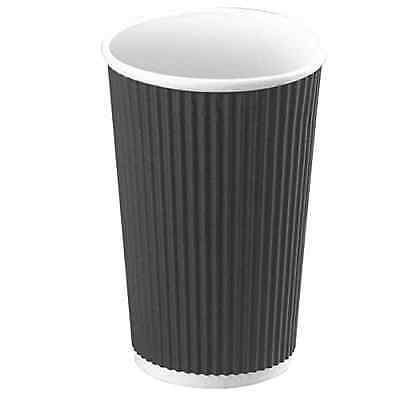 PacknWood Rippled Paper Hot Drink Cup, 16 oz. Capacity, Black (Case of 500)