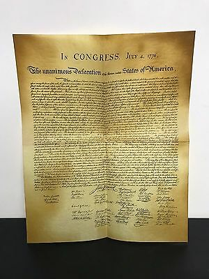 copy of Declaration of Independence Historical Document on Parchment Paper
