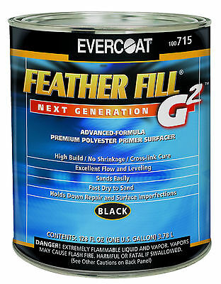 Evercoat 715 Feather Fill G2 Polyester Primer Surfacer (Black Gallon)