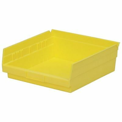 "Yellow Shelf Bin, 11-5/8""L x 11-1/8""W x 4""H AKRO-MILS 30170YELLO"