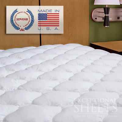 Waterproof Extra Plush Quilted Fitted Mattress Topper Pad, Twin, White