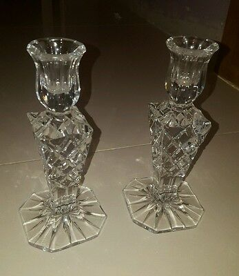 cut glass candle sticks
