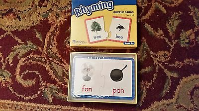Learning Resources RHYMING Puzzle Cards  Ages 3+ NEW