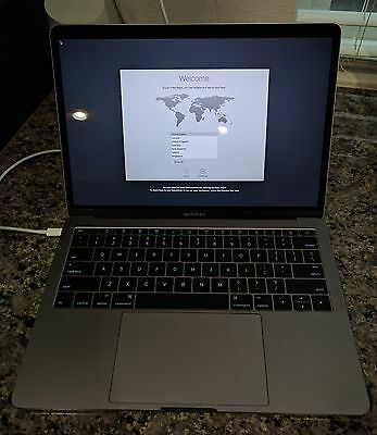 "Late 2016 13"" MacBook Pro i5 2.0GHz 8GB RAM 256GB SSD Space Gray (MLL42LL/A)"