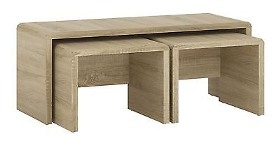 4 You Wide Nest Of Tables + Coffee Table In Sonoma Oak