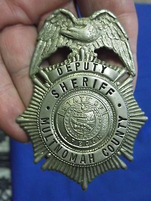 (RARE) Multnomah County, Oregon OR Sheriff (Hat Badge) Police (Not Hallmarked)