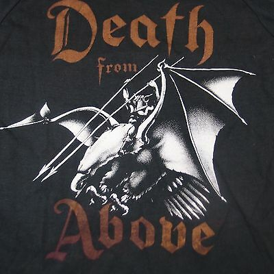 DEATH FROM ABOVE: Thrash Heavy Metal Band TOUR T-Shirt Small 50/50 Vintage