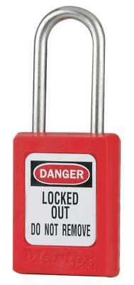 MASTER LOCK S31RED Lockout Padlock, KD, Red, 3/16 In. Dia.