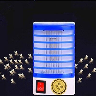 Electric Fly Bug Mosquito Insect Killer Zapper Trap LED Night Light Lamp Socket