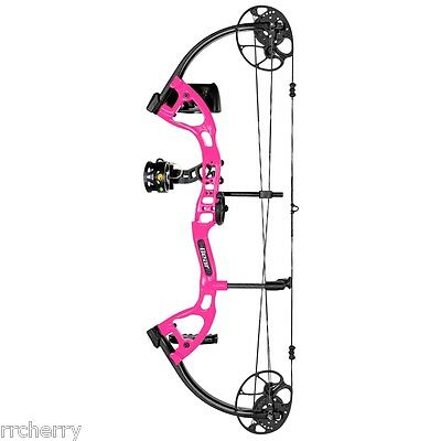 @NEW@ 2016 Bear Archery CRUZER LITE Hot Pink RTH Compound Bow Package! RH