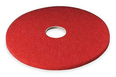 3M 5100 Buffing Pad, 12 In, Red, PK 5
