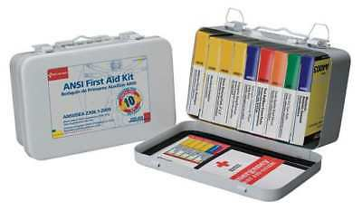 FIRST AID ONLY 240-AN First Aid Kit, Metal Case, General Purpose, 10 Person