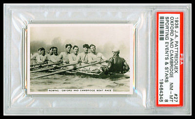 1935 PATTREIOUEX Sporting Events Stars #27 OXFORD CAMBRIDGE PSA 8 MINT ROWING
